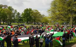 İsrail Şiddeti Enschede'de Kınandı